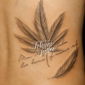 マリファナのタトゥー