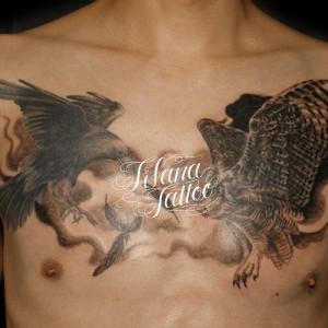 烏|鷹のタトゥー