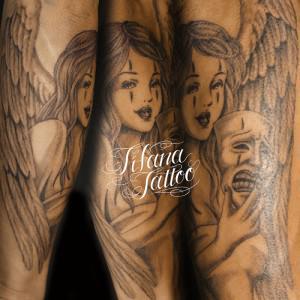 クラウンメイクの女神タトゥー
