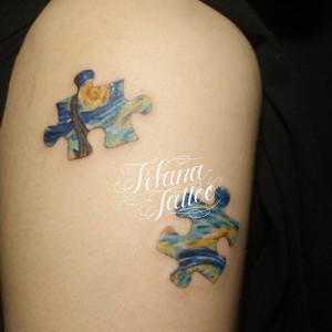 PUZZLE×Goghのタトゥー