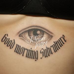 目|文字のタトゥー