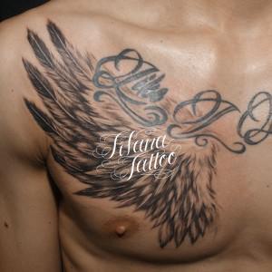羽|翼のタッチアップ・タトゥー