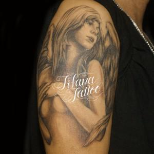 セクシーな女神のタトゥー